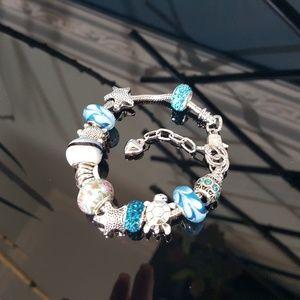Seashore Themed Charm Bracelet